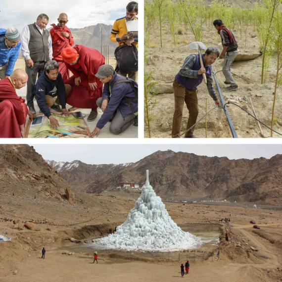 Ice Stupas, Phyang - Architecte, Sonam Wangchuk, Global Award for Sustainable Architecture 2017