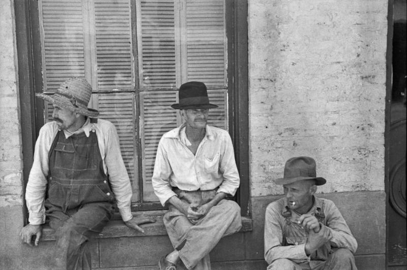 Frank Tengle, Bud Fields, and Floyd Burroughs, cotton sharecroppers, Hale County, Alabama - Walker Evans