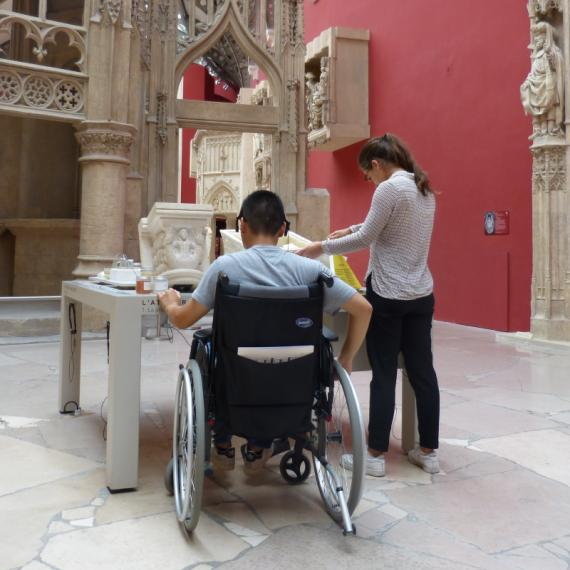 La galerie des moulages accessible