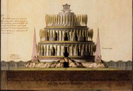 Projet à l'imitation du mausolée d'Adrien à Rome