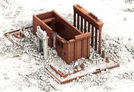 Perspective et reconstruction du temple de Bel à Palmyre